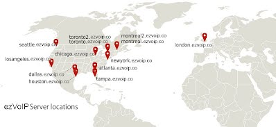 EZvoip World Servers
